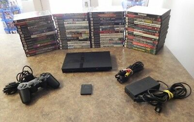 Sony PlayStation 2 PS2 slim Model Console Bundle with Games   Fast Shipping