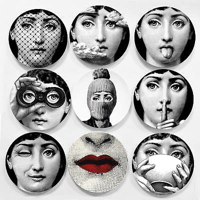 8 Inch Vintage Fornasetti Plates Decorative Wall Plates Dishes Home Interior New