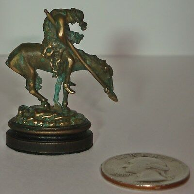 1994 Daniel Phillip Kronberg DH Miniature Bronze Frazer End of Trail Sculptures