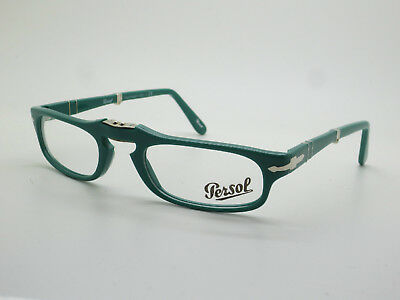 New Authentic PERSOL 2886-V 1000 Green Folding 51mm Rx Eyeglasses