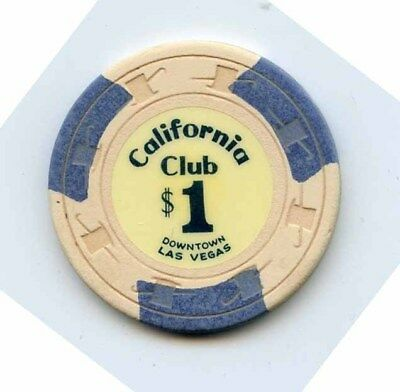 1.00 Chip from the California Casino in Las Vegas Nevada 3 inserts