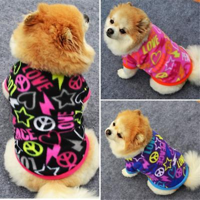 EG_ Small Puppy Pet Winter Clothes Faux Velvet Sweater Dog Cat Warm Apparel Surp