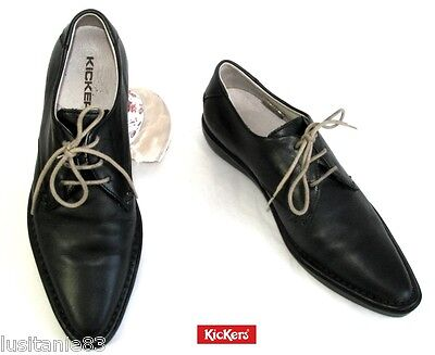 Kickers - Shoes Shoelace Tips Thin all Leather Black 36 - Mint