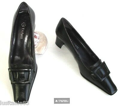Trifoli - Shoes Small Heels all Leather Black 36 - Mint