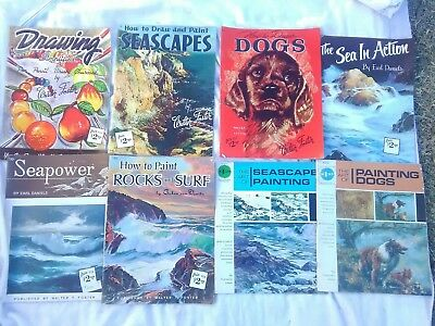 Lot of 8 Vintage Instructional Books How To Paint Draw Walter Foster Grumbacher