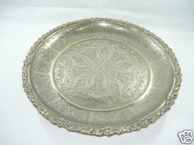 Tray centerpieces brass silver chiseled