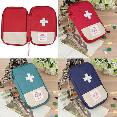 EG_ Camping Home Survival Portable First Aid Kit Bag Case Pill Tablet Pouch Dazz