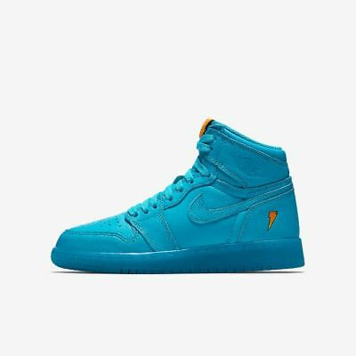 "Youth (GS) Air Jordan 1 Retro High OG ""Gatorade"" Blue Lagoon AJ6000-455"