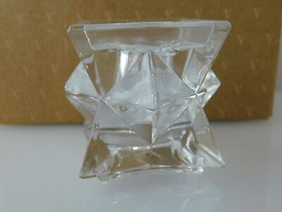 Avon Glistening Star Crystal Candle Holders - One Pair with Box