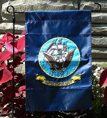 12x18 United States Navy Embroidered Garden Flag Garden Pole Sleeve FAST US SHIP