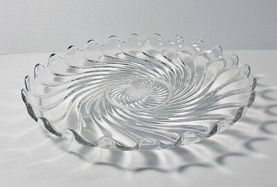 """Fostoria COLONY CLEAR 12-1/4"""" Torte Plate EXCELLENT"""