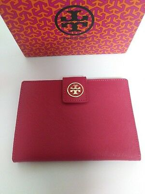 RARE!! NEW NWOT Tory Burch Pink Leather Robinson York Saffiano Passport Wallet!!