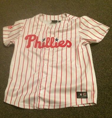 Majestic s Philadelphia Phillies Baseball Jersey Top Shirt 76ers Eagles
