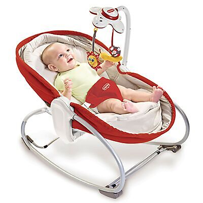 Tiny Love 3-in-1 Baby Child Rocker Rocking Napper - Red