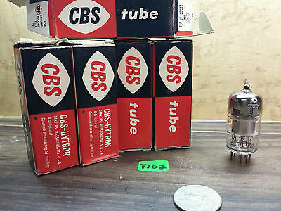 one NOS NIB Vintage 50s 60s CBS  5879 tubes, NEW NOS lot t102