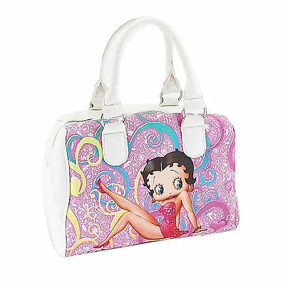 Licensed Betty Boop White Satchel Bag with a Matching Wallet  *NEW*  Free Ship