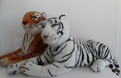"""Large Realistic plush toy - 44"""" TIGER brown or white U Pick one"""