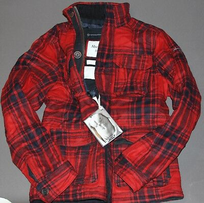 ABERCROMBIE and Fitch Mens Pine Point Wool Plaid Winter Coat Jacket M, XL $280