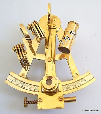 "4"" BRASS SEXTANT Nautical Sextant 4""~Antique vintage Sextant~Navigation Working~"