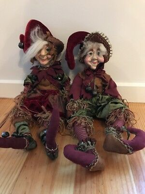 Katherine's Collection Christmas Dolls Briar And Beck With COA's