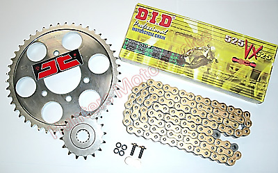 Triumph Tiger 800 XC, DID Heavy Duty Gold X-Ring Chain & JT Sprockets Kit Set