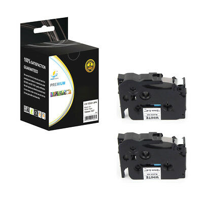 2PK Replacement TZe231 Black on White 1/2in 26.2ft Label Tape for Brother Ptouch
