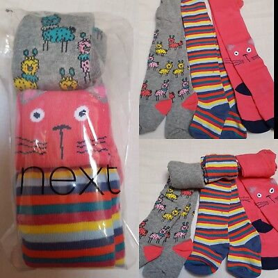 NEW⭐ BNWT NEXT Baby Girl 0-3-6-12-18-24 months Cotton Blend Animal Tights