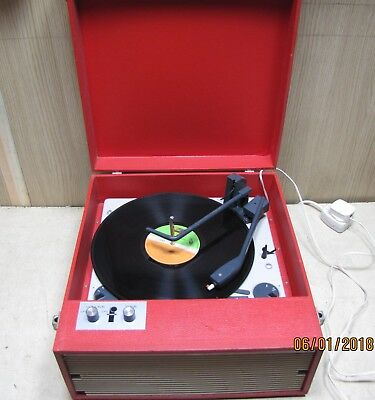 Fidelity vintage CRP4 red record player rare 1960's valve amplifier