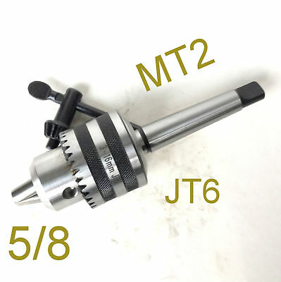 "1 pc Key 1/32""-5/8"" Drill Chuck With Taper 2MT MT2 Tailstock JT6 Arbor for CNC"