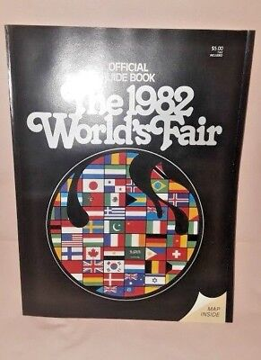 Vintage 1982 WORLD'S FAIR Official Guide Book Knoxville TN with Full Color Map