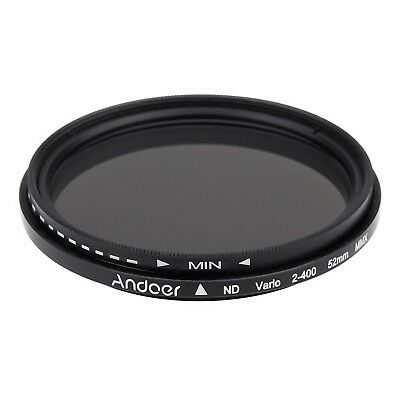 Andoer 52mm ND Fader Neutral Density Adjustable ND2 to ND400 Variable Filter ...