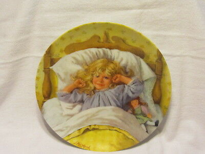 Vtg Edwin Knowles Becky's Day Collection First Issue Awakening Plate Mib