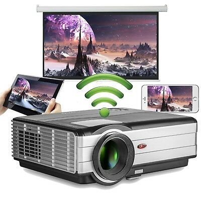 LED HD 1080P Wifi Video Projector EUG 200 Inch Big Screen LCD Android Wireles...