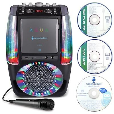 Singing Machine SML605BK AGUA Dancing Water Fountain Bluetooth Karaoke System...