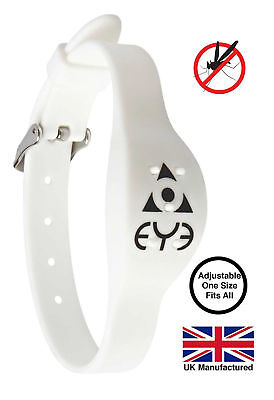 THEYE Mosquito Repellent Band Adjustable White Outdoor Insect Control free post