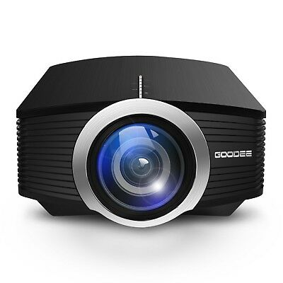 Home Cinema Projector GooDee Efficiency Portable Projector Support 1080P Mini...