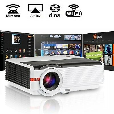 CAIWEI HD Projector 5000 Lumens Android WiFi Multimedia Home Theater High Def...