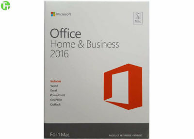 Microsoft Office 2016 Home & Business Mac PKC English