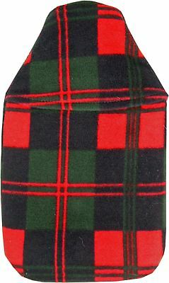 Vagabond 2L Red Green Check Hot Water Bottle and Cover