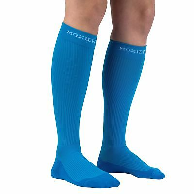 Authentic Graduated Compression Socks for Sports and Running Blue Medium