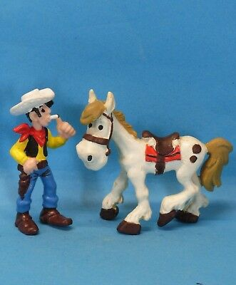 2 Figuren : Lucky Luke mit langer Zigarette + Jolly Jumper BULLY 1974