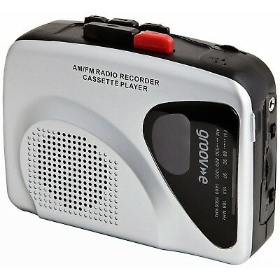 Groove Personal Cassette Player and Recorder Silver One Size
