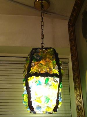 Accepting Best Offers!!! Rare Important Antique Colorful Chunk Glass Chandelier
