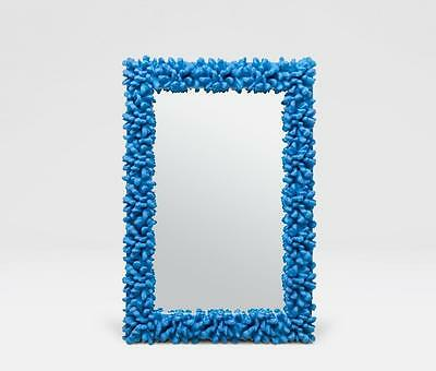 Accepting Best Offers!!! Rare Large Estate Blue Plaster Coral Style Glass Mirror