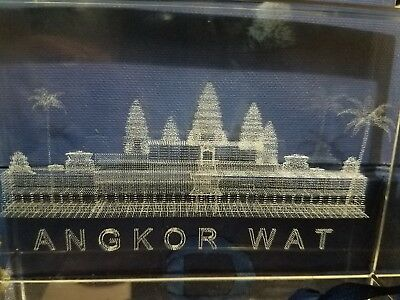 Angkor Wat Crystal Etching - Unique and Incredible Detail
