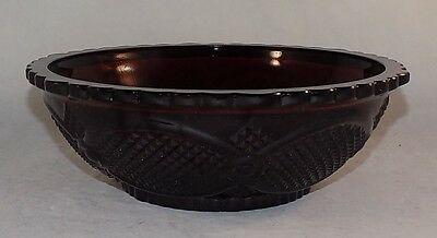 Vintage Avon 1876 Cape Cod Collection Ruby Red Serving Bowl MIB