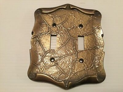 Amerock Vintage Brass Color Light Switch Cover Plate 2 Toggle 9084-1