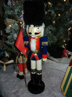 Large Classic Wood * Guard * 24 Inch Tall * Nutcracker Holiday Christmas * Rare