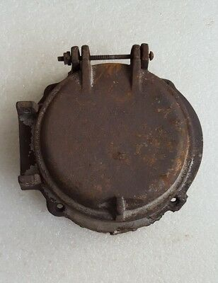ANTIQUE Vintage CAST IRON * PIPE CHECK VALVE COVER ? PORT HOLE FRAME ? STEAMPUNK