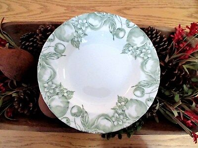 """WOOD & SONS 'Fruit Green' 9"""" SOUP/PASTA BOWL (England) Excellent! 5 Available!"""